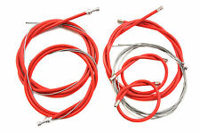 FIXIE OR SPORTS RACING BIKE FULL BRAKE & GEAR CABLE SET TAILOR MADE RED