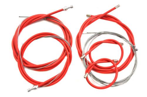 Fixie ou Sports Vélo De Course Complet Frein Et Gear Câble Ensemble Fabriqué sur mesure rouge