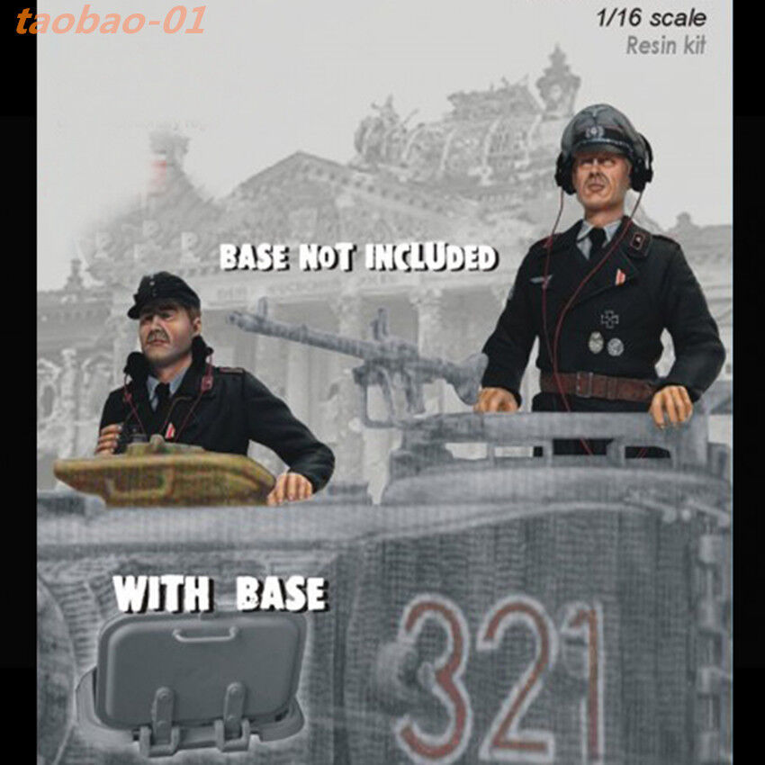 1 16 resin soldiers figures model kit WW II German tank crew 2 man GK36129