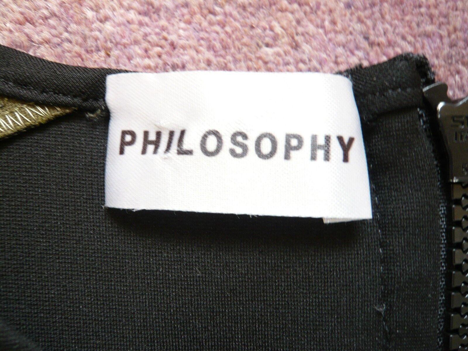 Filosofia NUOVO Stretch Vestito Aderente Aderente Aderente Colourblock esposto zip costo ab7986