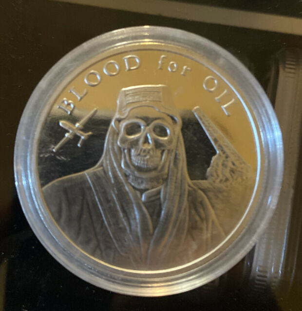 1 oz Silver Shield Mini-Mintage BU rounds .999 fine silver 2017 BLOOD FOR OIL