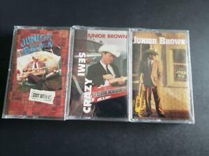 3-JUNIOR-BROWN-BRAND-NEW-SEALED-CASSETTES-SOLD-AS-A-PACKAGE
