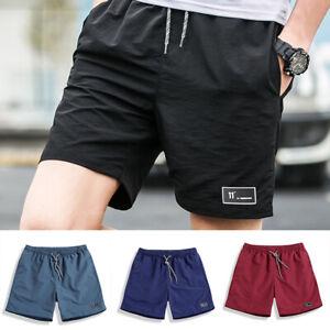 Men-Summer-Beach-Casual-Shorts-Athletic-Gym-Sports-Training-Swimwear-Short-Pants