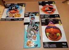 Halloween Craft Kits 3 each Kids Door Hanger Kit 254pc Total Foam Shapes 123U