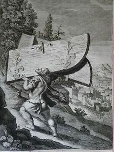 Samson-Carrying-the-Gates-of-Gaza-1690-Blome-antique-religious-engraving