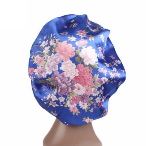 Damen Satin Schlafhaube Nachthaube Haarpflege Mütze Turban Nachtkappe Duschhaube