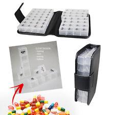 14 DAY PILL BOX WALLET MEDICANE TABLET HOLDER ORGANISER STORAGE TRAVEL PREMIUM