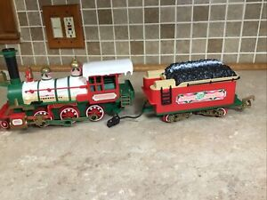 VTG New Bright Logger Bears Express G Scale  Engine + Coal Tender WORKING