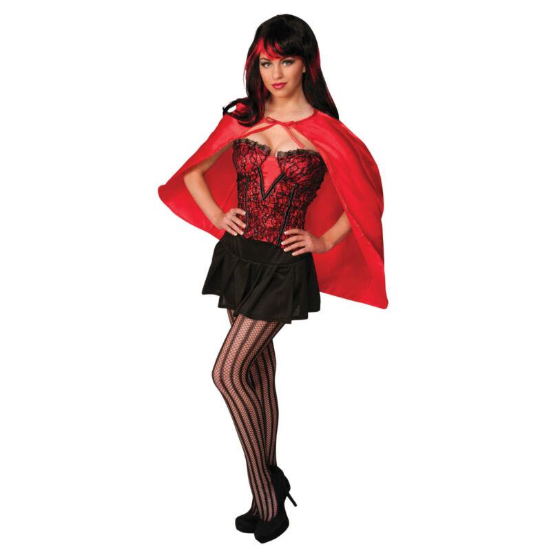 # Kurz Mini Fantasie Umhang In Rot Damen Kostüm Verkleidung Zubehör