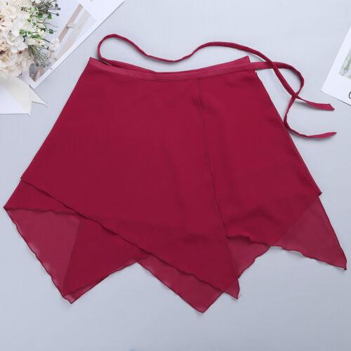 Womens Asymmetric Ballet Dance Wrap Skirt Leotard Tutu Scarf Skirt Dance Dress