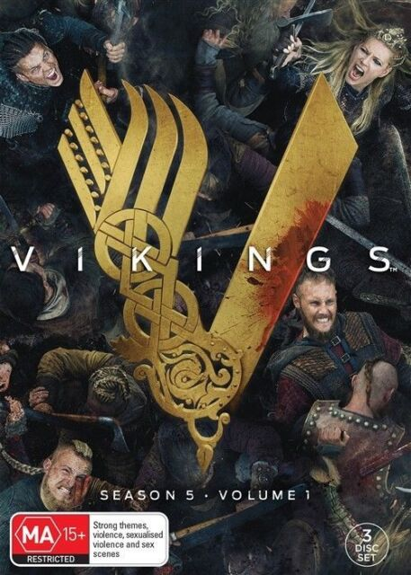 Vikings : Season 5 : Part 1 (DVD, 2018, 3-Disc Set), NEW SEALED REGION 4
