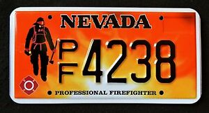 NEVADA-034-FIREFIGHTER-FIRE-FIGHTER-034-NV-Specialty-License-Plate