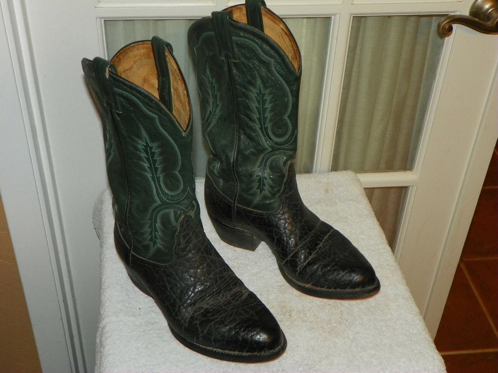 miglior prezzo Tony Lama nero Bullhide Leather Two Tone Tone Tone Cowboy stivali Uomo 8.5 D Style 6640  Spedizione gratuita per tutti gli ordini