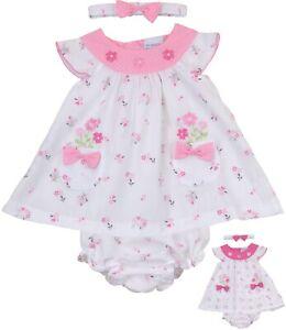 Babyprem bébé fille robe rose ensemble tenue d/'été nouveau-né 0-3 et 3-6 M