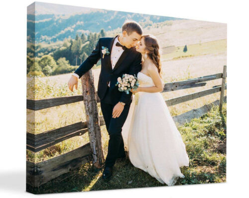 Your photo on canvas Gallery Wrapped with high-quality solid wood frame