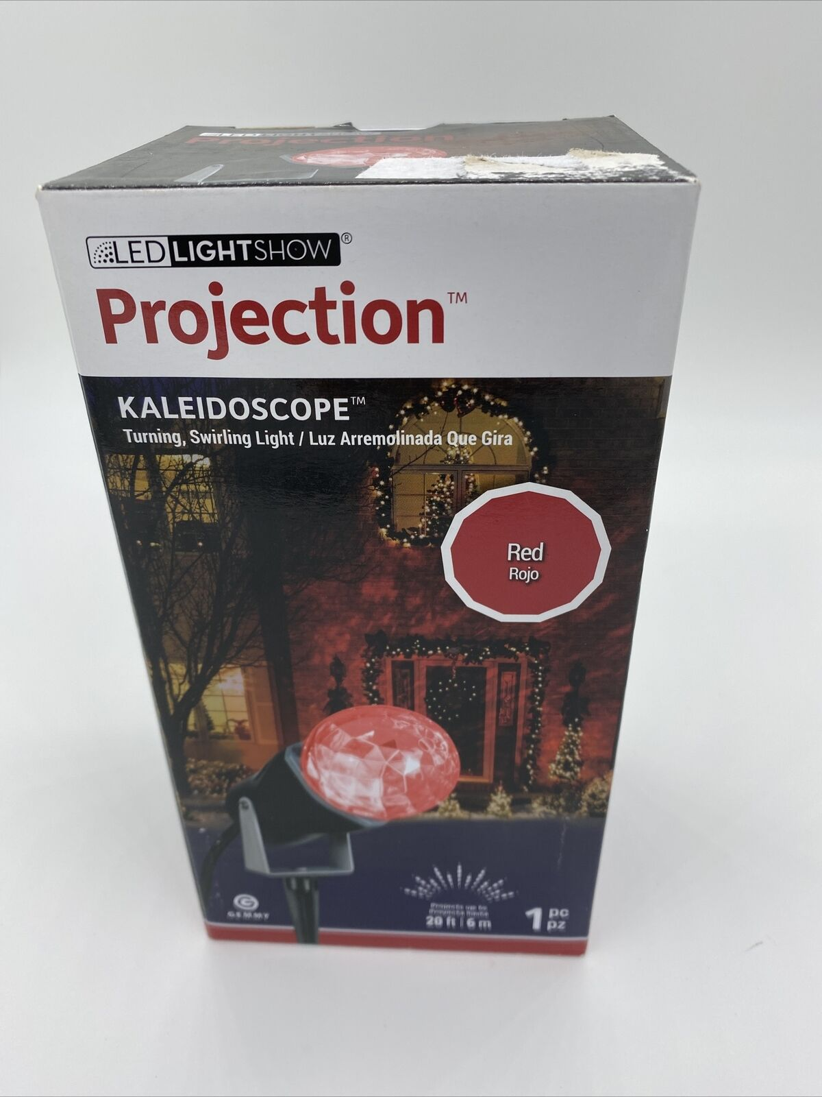Festival Light Red Green Projection Kaleidoscope Stake Light For Christmas Party