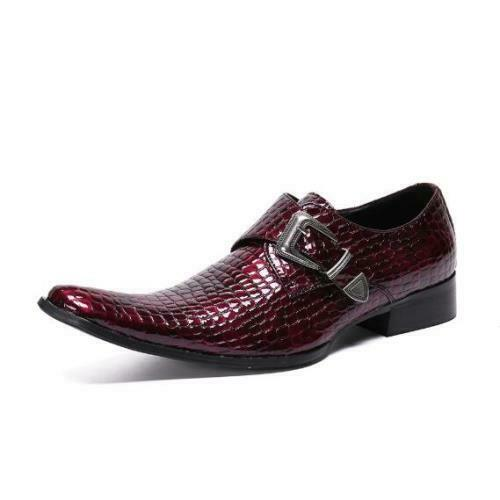 Details about  /38-46 Men Low Top Real Leather Business Leisure Shoes Pointy Toe Wedding Party L