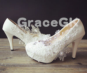 Image Is Loading Snowflake White Ivory Wedding Bridal Shoes Flats Low