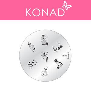 Original KONAD ® Stamping Nailart Design Schablone Image Plate - M35
