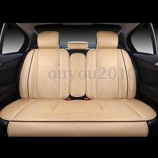 4x Sitzauflage Autositzauflage Sitzkissen Keilkissen PU Leder Für 5 seat Car SUV