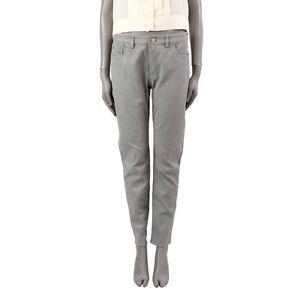 Pantalon 39064 Acne cuir clair gris Studios stretch en Auth cuir en gris a00dW