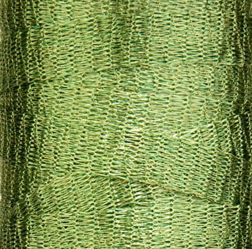 ONE METRE LEAF GREEN METALLIC WIRE MESH RIBBON FROM MENONI ITALY LIKE WIRELACE