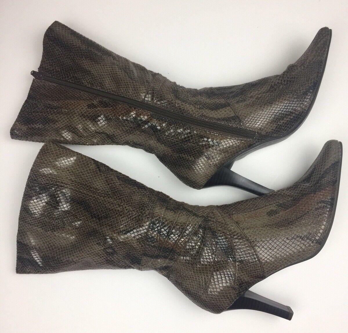 Apostrophe Womens Snake Print Boots Size 7 8225-IKR BROWN STILETTO