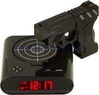 Laser Gun Alarm Clock Target Panel Shooting Lcd Screen Target Panel Game Kid Toy