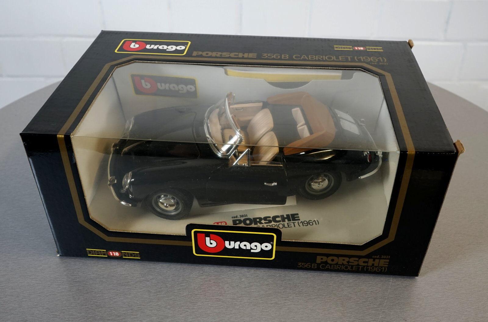 Burago 1   18 porsche 356 b cabriolet (1961) - 3031 - druckguss - skala der modell - auto - ovp
