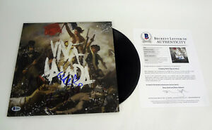 Coldplay-Entire-Band-Signed-Viva-La-Vida-Vinyl-Record-Album-Beckett-COA