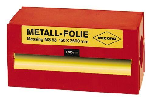 SU0,200 Record Metallfolie Stahl unlegiert 150 x 2500 x 0,200mm