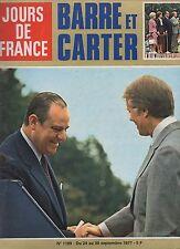 jours de france n° 1189 raymond barre jymmy carter maria callas 1977
