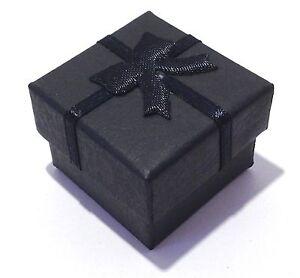 12Pcs Black Bowknot Display Jewelry Ring/Earrings Cardboard Paper Gift Box