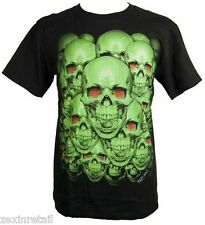 SKULL ATTACK - GLOW IN THE DARK T-SHIRT Amazing Artwork  Same Day Despatch