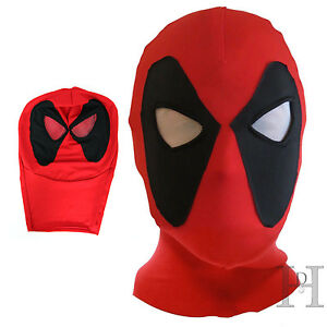 Deadpool Spandex Lycra Balaclava Hat Zentai Mask Hood Halloween Cosplay Headwear