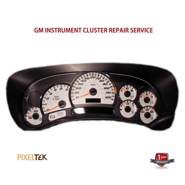 03-06 GMC Yukon Instrument Cluster Repair Service CA SELLER