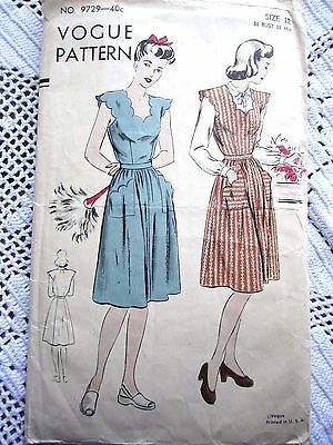 VOGUE SEWING PATTERN~UNPRINTED~SZ 12~MISSES JUMPER/DRESS WITH SCALLOPS