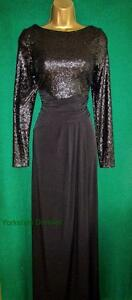 c1f6d426939 Image is loading New-PHASE-EIGHT-Black-SISSY-Sequin-Jersey-Long-