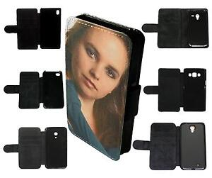 PERSONALISED CUSTOM PRINTED Flip Wallet Phone Case Cover photo picture text gift