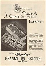1942 WW2 era AD MEADOR'S Peanut Brittle Candy Deep South Greenville SC 062216