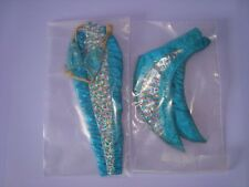 MATTEL ABITO BARBIE SIRENA JEWEL HAIR ANNI 90 OUTFIT bambola poupee mermaid doll