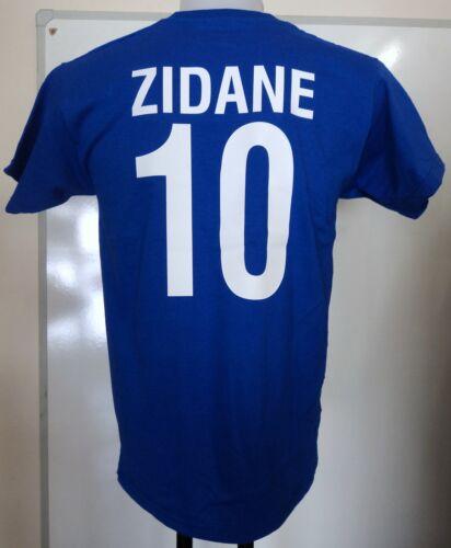 FRANCE RETRO ZINEDINE ZIDANE NUMBER 10 FOOTBALL TEE SIZE MEN'S SMALL BRAND NEW