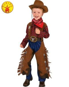 RUBIES-Boys-Costume-Fancy-Dress-Halloween-Book-Week-Wild-West-Cowboy-510321