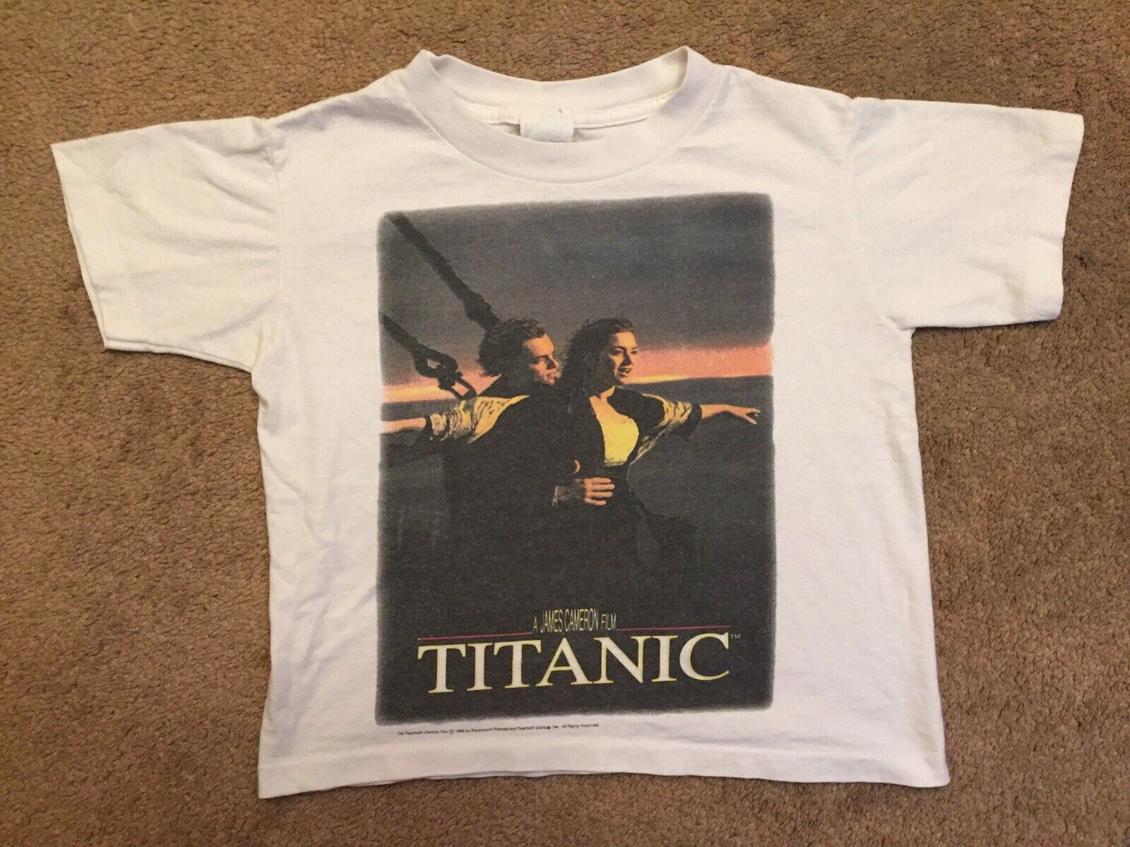 Vintage 90s 1996 Titanic Expedition Movies Discovery T Shirt XL Size
