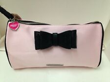 NEW! VICTORIA'S SECRET VS LARGE COSMETIC MAKEUP TRAVEL POUCH BAG PINK BOW SALE