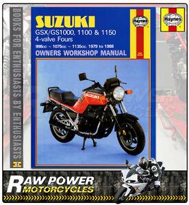 suzuki gs gsx1000 1100 1150 4 valve 79 88 haynes manual 0737 rh ebay co uk 1991 Suzuki Sidekick Manual 1998 Suzuki Sidekick