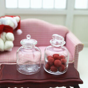 HD-Dollhouse-Miniature-Transparent-Jar-Glass-Container-Simulation-Pretend-Play