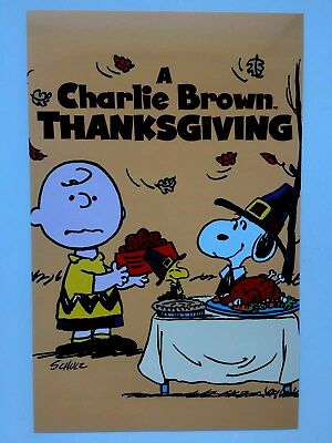 A CHARLIE BROWN THANKSGIVING 11x17 Movie Poster A LicensedNewUSA