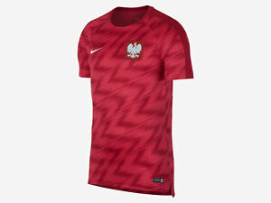 official photos 8ee82 940f3 Image is loading RPOL17-World-Cup-2018-Nike-Poland-Training-Shirt-