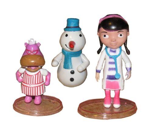 3pc Doc McStuffins Hallie Playset 3 Figure Cake Topper *USA SELLER* Toy Doll Set